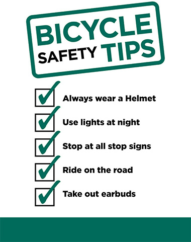 List Of Bicycle Safety Tips